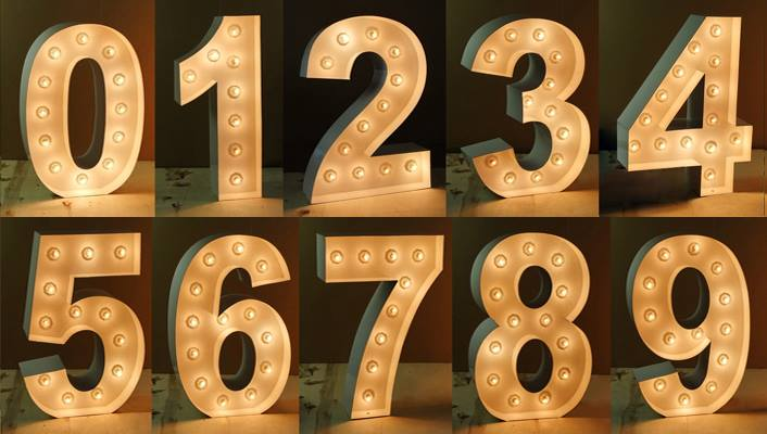Number One Block Letters Signs
