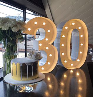 Turning 30 Go Big Light Up Letter Co