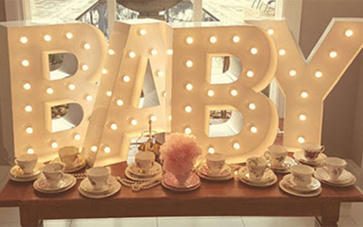 Sparkles And Light For Your Baby Shower Light Up Letter Co